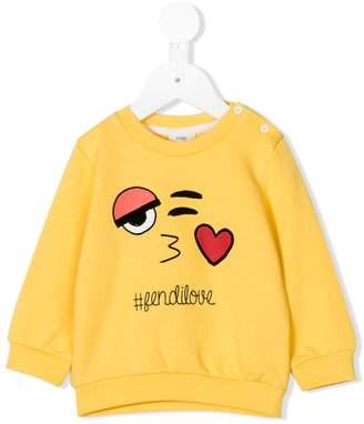 Fendi emoji print sweatshirt