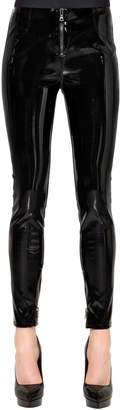 RtA Skinny Faux Patent Leather Pants W/ Zips