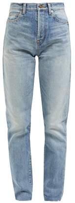 Saint Laurent Bandana Pocket Slim Fit Jeans - Womens - Light Blue