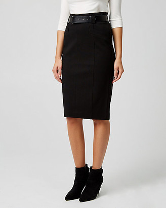 Le Château Ponte Knit High Waist Pencil Skirt