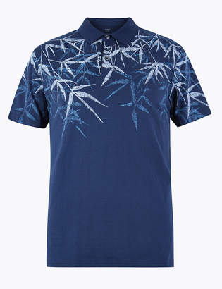Marks and Spencer Cotton Leaf Print Polo
