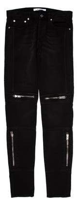 Givenchy Zipper-Accented Skinny Jeans w/ Tags
