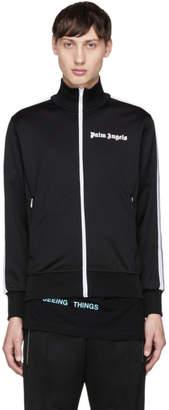 Palm Angels Black and White Logo Track Jacket