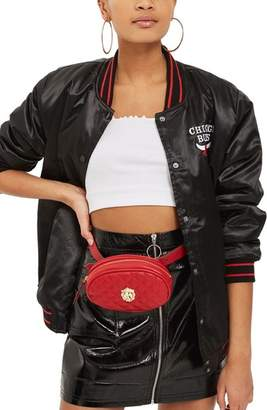 Topshop Quilted Faux Leather Belt Bag