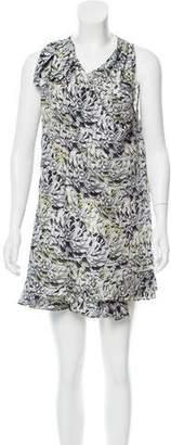 Proenza Schouler Floral Printed Silk Dress