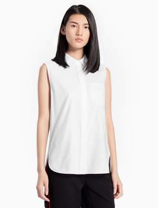 Calvin Klein oxford sleeveless top
