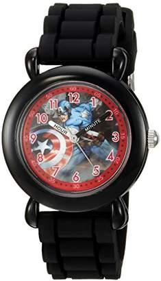 Marvel Boy's 'Captain America' Quartz Plastic and Silicone Casual Watch