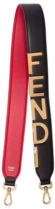 Fendi Logo detail leather bag strap