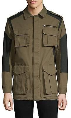 Dim Mak Men's Hunterdon Colorblock Cotton Field Jacket
