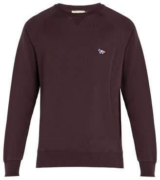 MAISON KITSUNÉ Logo-embroidered cotton crew-neck sweatshirt
