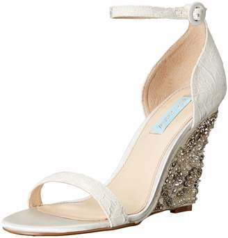 Betsey Johnson Blue Women's Sb-Alisa Wedge Sandal