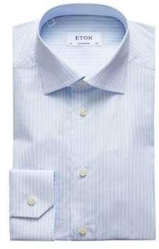Eton Contemporary Fit Pinstripe Button-Down Shirt