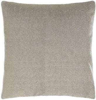 "Donna Karan Home Fuse Embroidered Velvet Pillow, 18""Sq."