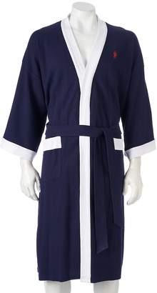 Jockey Waffle-Weave Kimono Robe - Men