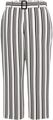 Wallis PETITE Monochrome Striped Trousers