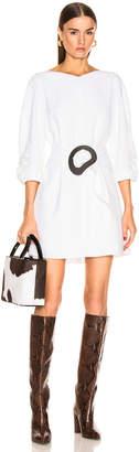 Tibi Shirred Sleeve Dress in White | FWRD
