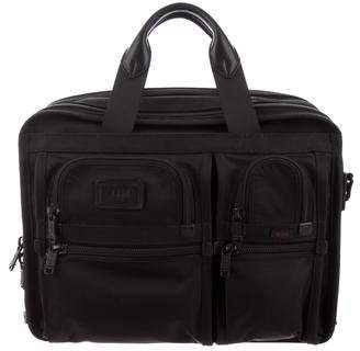 Tumi Leather-Trimmed Nylon Laptop Briefcase