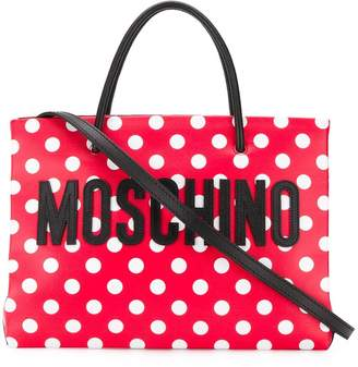 Moschino polka dot tote bag
