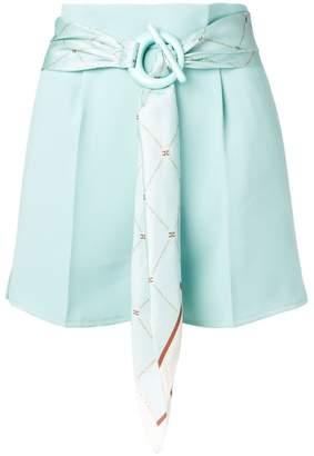 Elisabetta Franchi belted scarf shorts