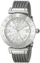 Charriol Alexandre C Women 'sステンレススチールツイストケーブルブレスレットスイス製Watch AMS。51.001