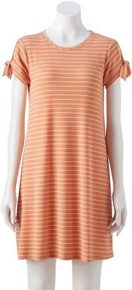Lauren Conrad NEW! Women's Knot-Sleeve Swing Dress