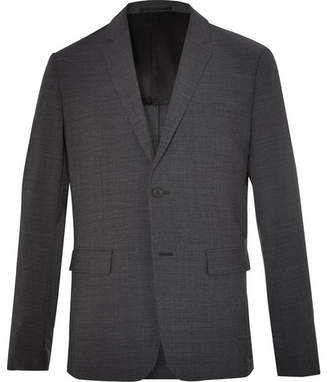 Theory Clinton Charcoal Slim-Fit Stretch Wool-Blend Suit Jacket - Charcoal