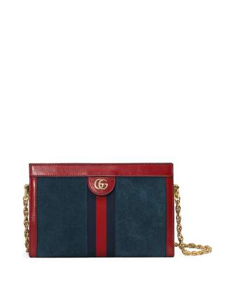 Gucci Ophidia Small Suede Chain Shoulder Bag