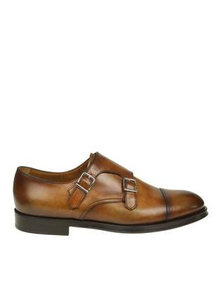 Doucal's Shoe With Double Buckle Leather Color Leather