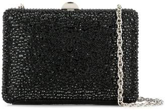 Rodo crystal embellished box clutch