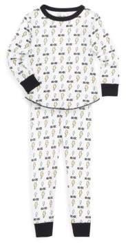 Toddler's, Little Boy's & Boy's AC/DC Cotton Thermal Pajamas