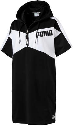Puma Archive Half-Zip Relaxed French Terry Hoodie Dress