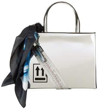 Off-White Mirror Top Handle Bag