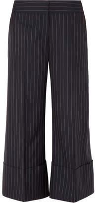 Monse Cropped Pinstriped Wool-crepe Wide-leg Pants