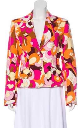 Dolce & Gabbana Floral Print Structured Blazer