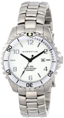 Momentum Women's Quartz Watch | M1 Mini by | Stainless Steel Watches for Women | Dive Watch with Japanese Movement & Analog Display | Water Resistant ladies watch with Date - White/White Steel