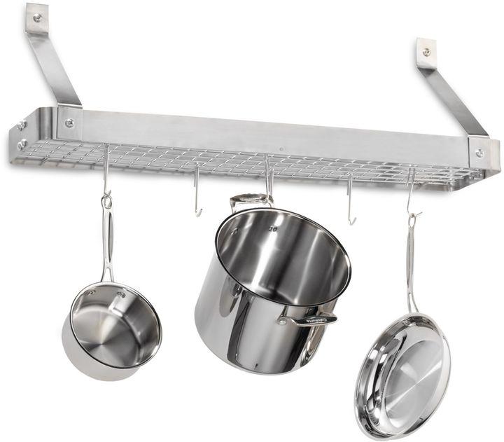 Cuisinart Brushed Stainless Steel Rectangular Bookshelf Pot Rack