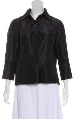 Kaufman Franco KAUFMANFRANCO Over-sized Silk Blouse