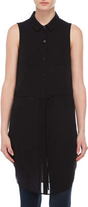BCBGeneration Black Sleeveless Shirt
