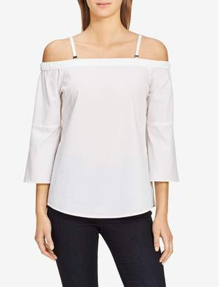 Calvin Klein off-shoulder flutter sleeve top