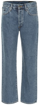 Gold Sign The Relaxed mid-rise straight jeans