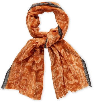 Epice Copper Wool Printed Scarf