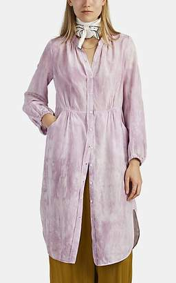 Raquel Allegra Women's Tie-Dyed Cotton-Silk Shirtdress
