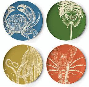 Thomas Paul Sea Life Dinner Plates