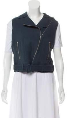 Elizabeth and James Linen Biker Vest w/ Tags