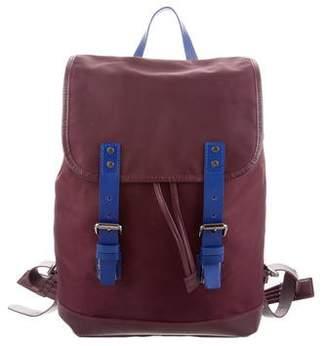 Longchamp Leather-Trimmed Nylon Backpack