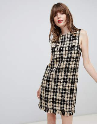 Darling Houndstooth Shift Dress