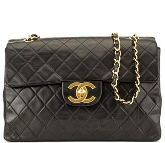 Chanel Black Quilted Lambskin Maxi Classic Flap (3974004)
