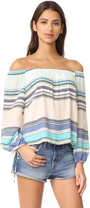 Wildfox Alyssa Coscarelli Boardwalk Stripe Marietta Top $138 thestylecure.com