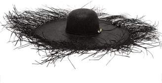 cb5142944b838 Sensi Studio - Lady Ibiza Shell Embellished Straw Hat - Womens - Black