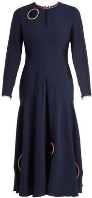 Roksanda Mira circle reverse-appliqué midi dress